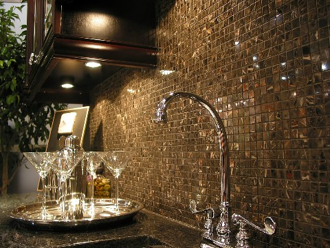 Ceramic kitchen backsplash tiles