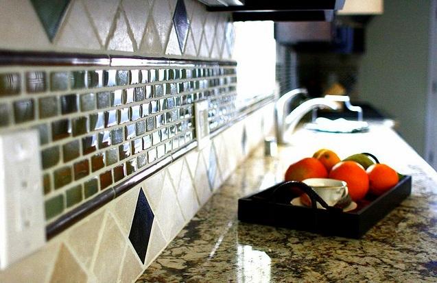 Colourful Kitchen Backsplash